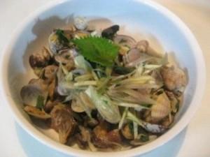 香菜とアサリのオリーブ焼き レシピ3