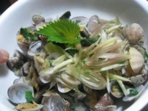 香菜とアサリのオリーブ焼き レシピ4