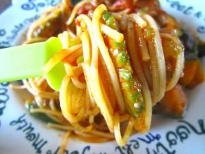 夏野菜パスタ ラタトゥーユパスタ (11)