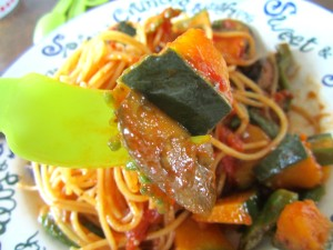 夏野菜パスタ ラタトゥーユパスタ (12)