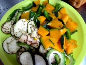 夏野菜パスタ ラタトゥーユパスタ (4)