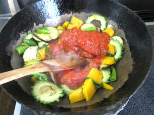 夏野菜パスタ ラタトゥーユパスタ (6)