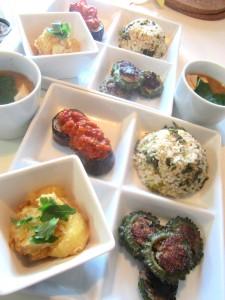 高菜混ぜ玄米プレート (1)