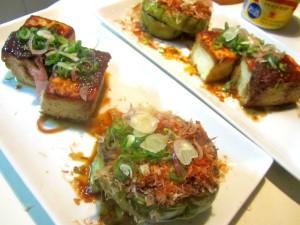 秋茄子と豆腐のステーキ