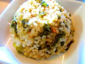 高菜混ぜ玄米プレート (5)