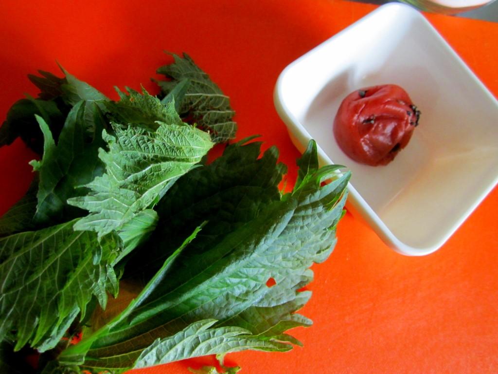 梅と紫蘇のチャーハン (1)